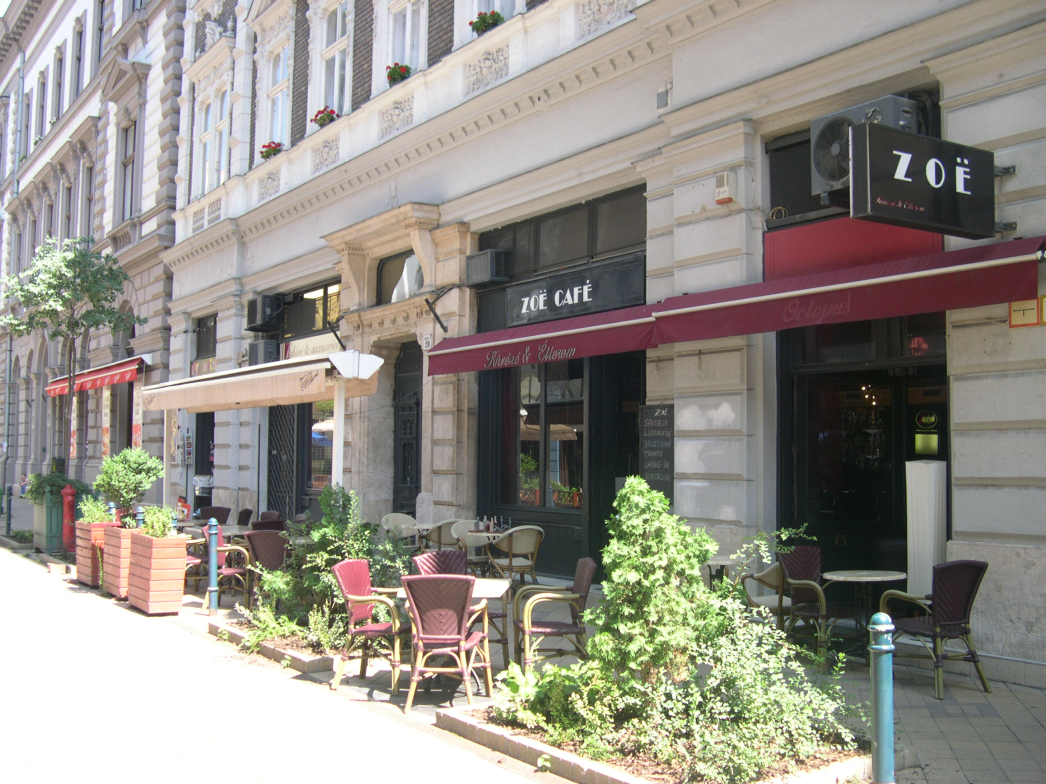 One of the many restaurants on Raday Street